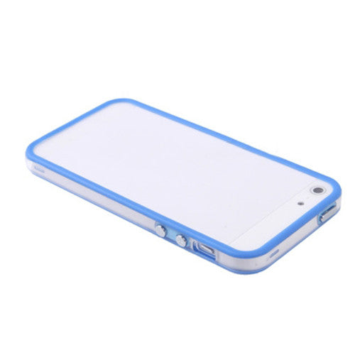 Transparent Plastic Bumber m. Knapper Iphone 5/5S/SE