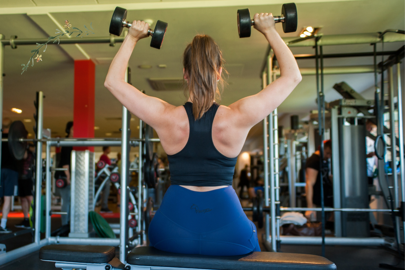 riding leggings in the gym