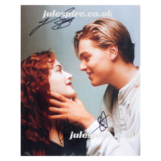 Titanic Jack and Rose Autograph, signed by Leonardo DiCaprio and Kate Winslet - Julespire Movie Memorabilia
