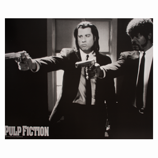 Pulp Fiction Compact Film Poster - Julespire Movie Memorabilia