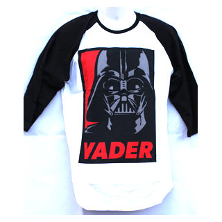 Star Wars Men's Baseball Raglan Sleeve T-Shirt - Vader - Julespire Movie Memorabilia - 1