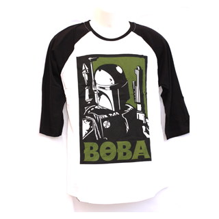 Star Wars Men's Baseball Raglan Sleeve T-Shirt - Boba Fett - Julespire Movie Memorabilia - 1