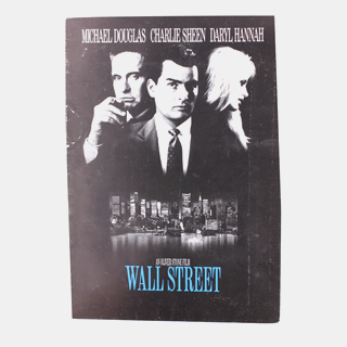 Wall Street Original Movie Promotional Flyer / Press Booklet - Julespire Movie Memorabilia - 1