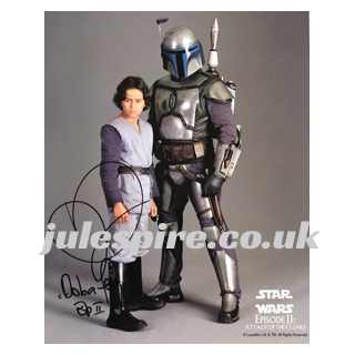 Star Wars Autograph, signed by Daniel Logan (as the young Boba Fett in Episode II) - Julespire Movie Memorabilia