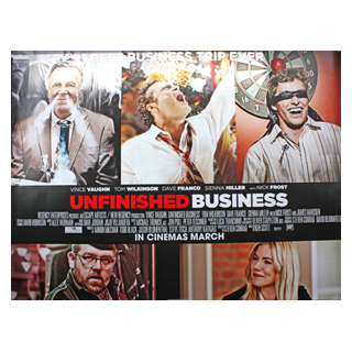 Unfinished Business - Original Quad Poster