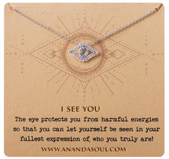 I See You Necklace - Silver