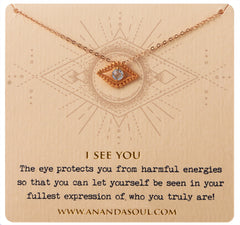 I See You Necklace - Gold