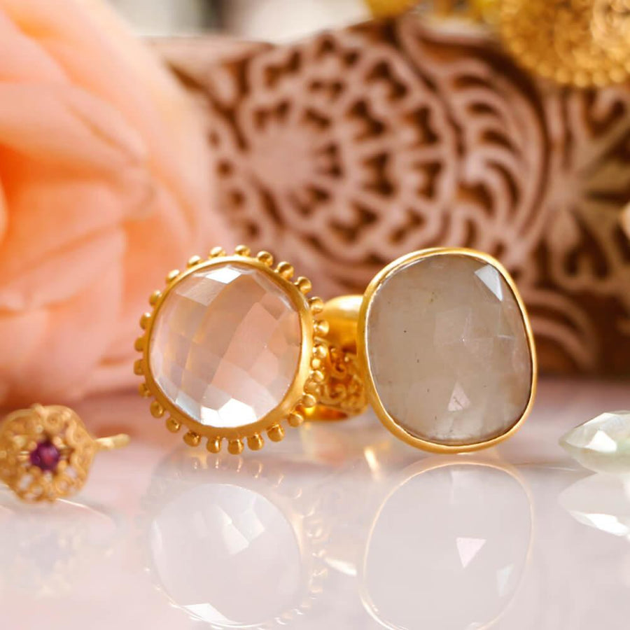 All is Love Ring • Rose Quartz • Gold