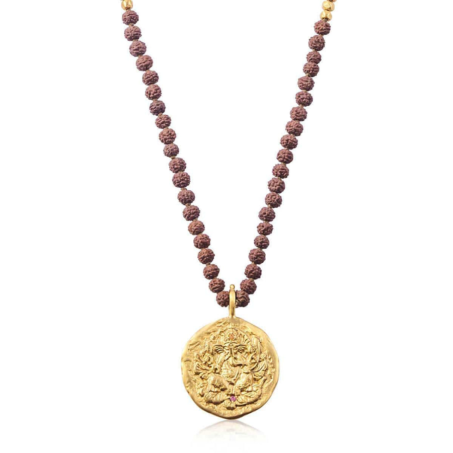 Ganapati Necklace with Rudraksha