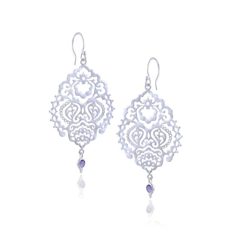 Breath of Life Earrings • Amethyst • Silver