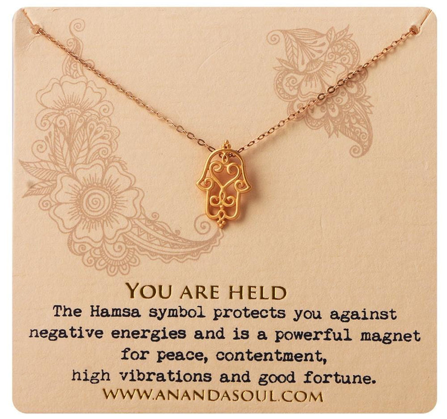 You are held necklace • Gold