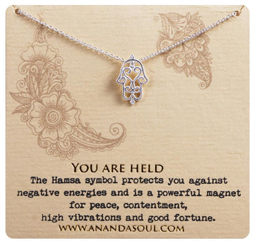 You are held necklace • Silver
