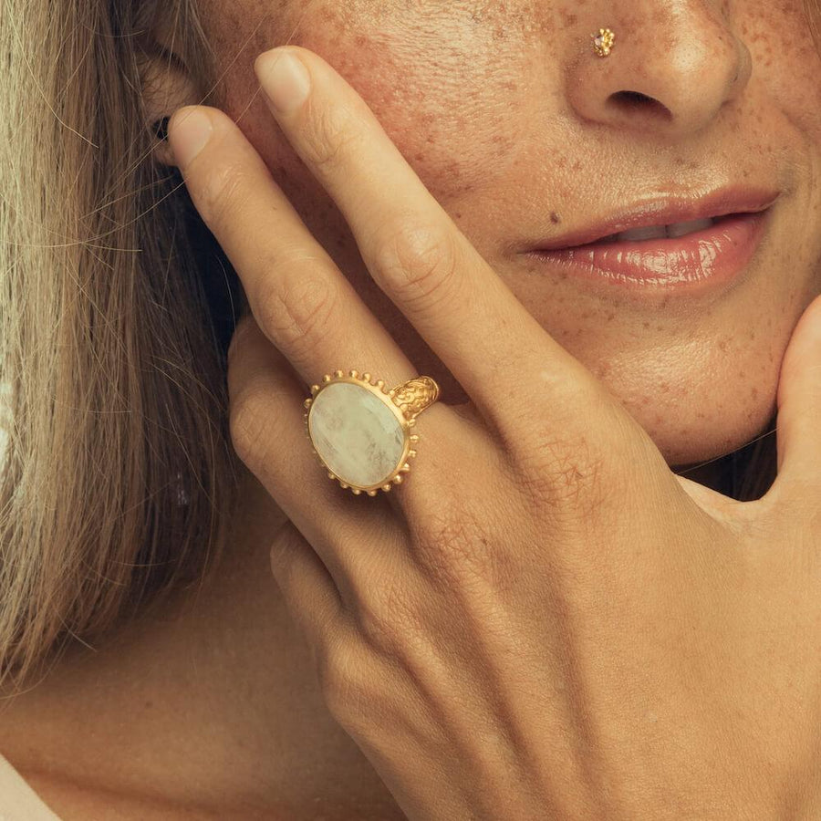 Wise Wild & Free Ring • Moonstone • Gold