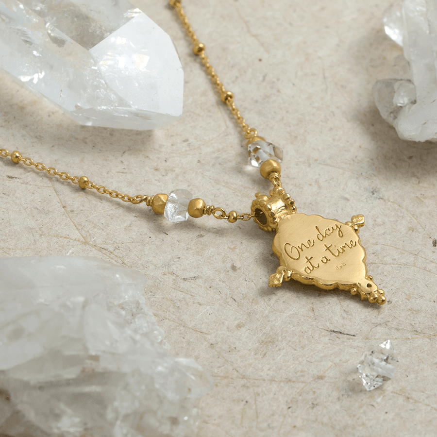 One Day at a Time Necklace with Herkimer Diamonds