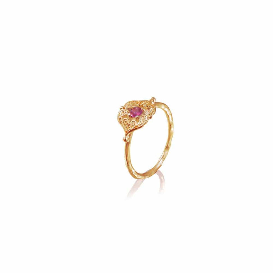 Sacred Heart Ring • Gold Vermeil