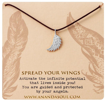 Spread your wings necklace • Silver
