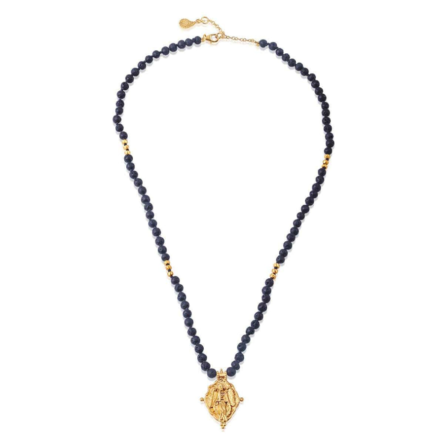 Compassion necklace with lava beads