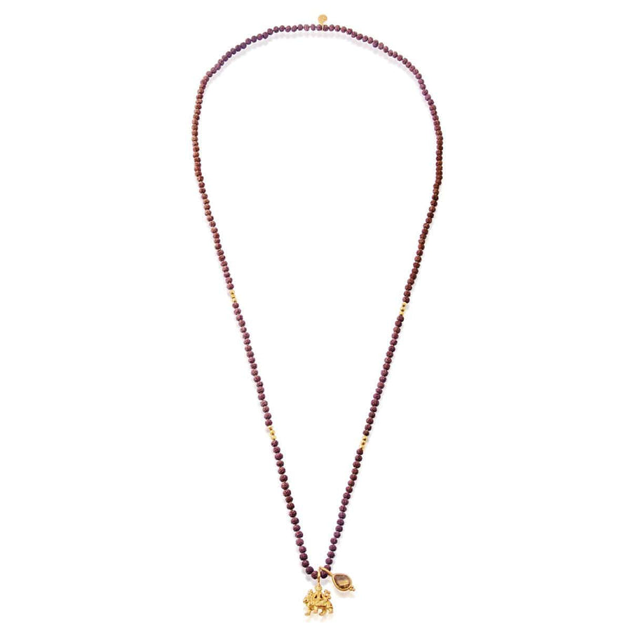 Durga Necklace with Rudraksha • Gold
