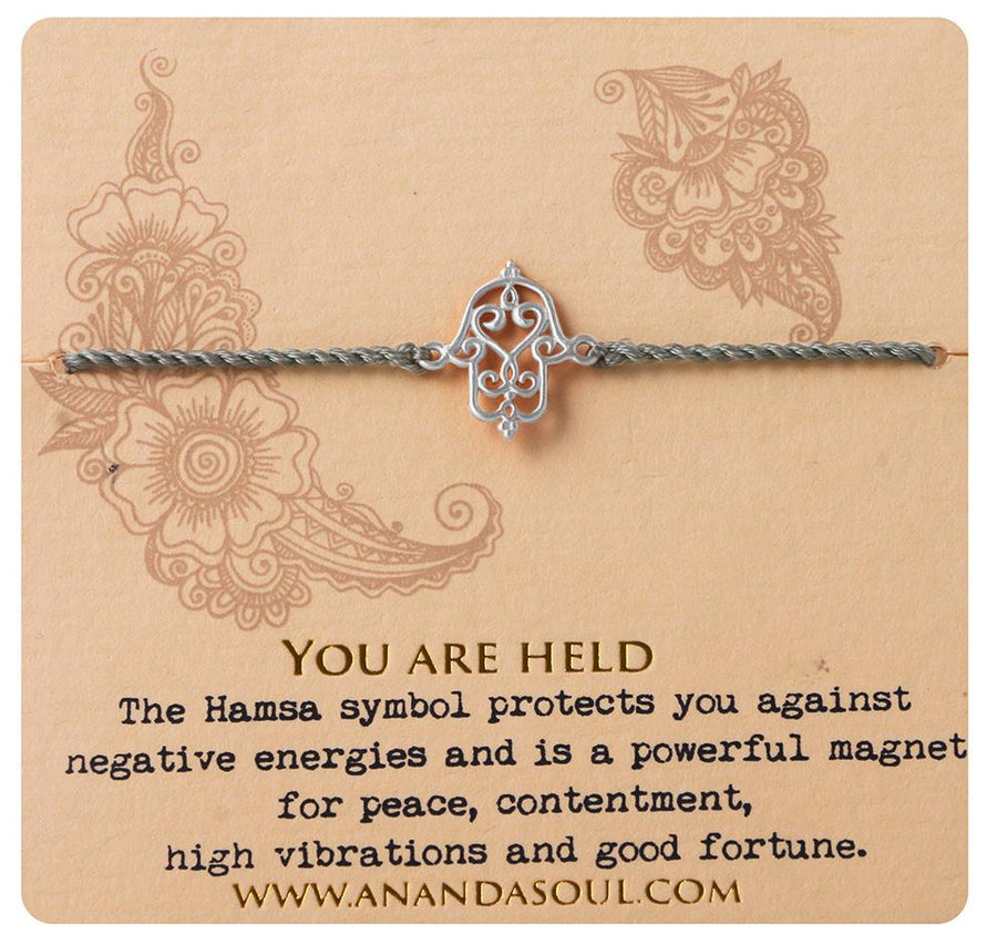 You are held bracelet • Silver