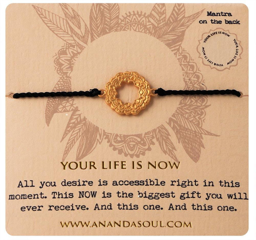 Your life is now bracelet • Gold