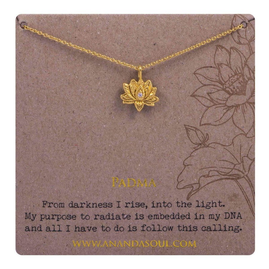 Padma necklace - gold