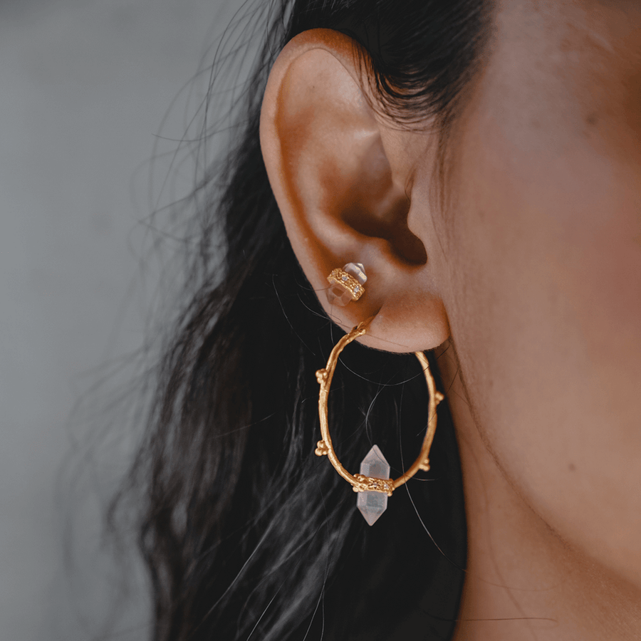Shoot for The Moon • Hoop Earrings