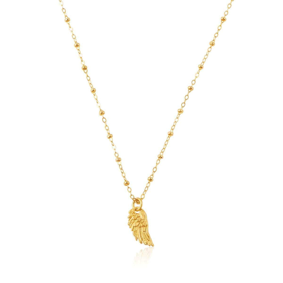 Spread your wings necklace - gold