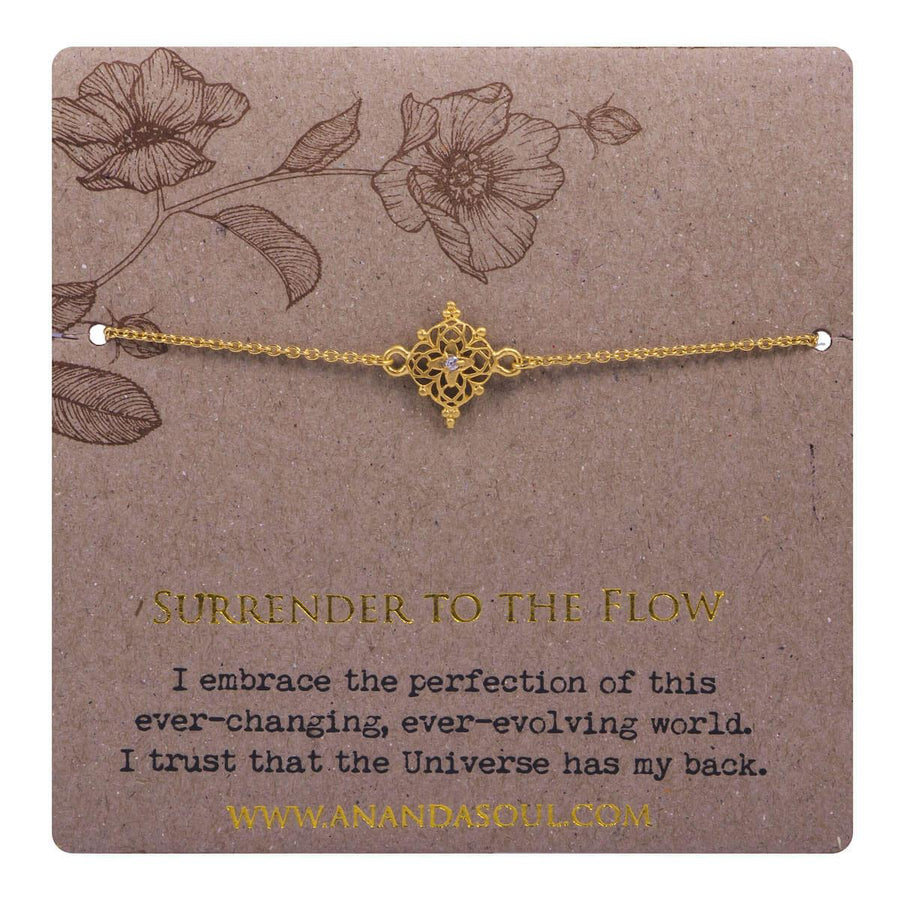 Surrender to the flow bracelet - gold