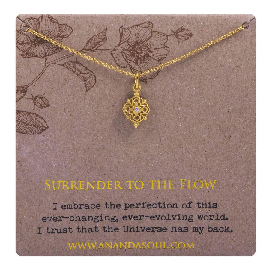 Surrender to the flow necklace - gold
