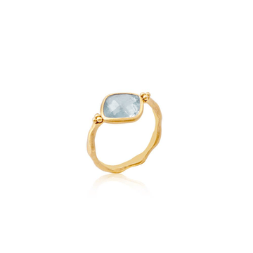 Tear of Joy Ring • Aquamarine