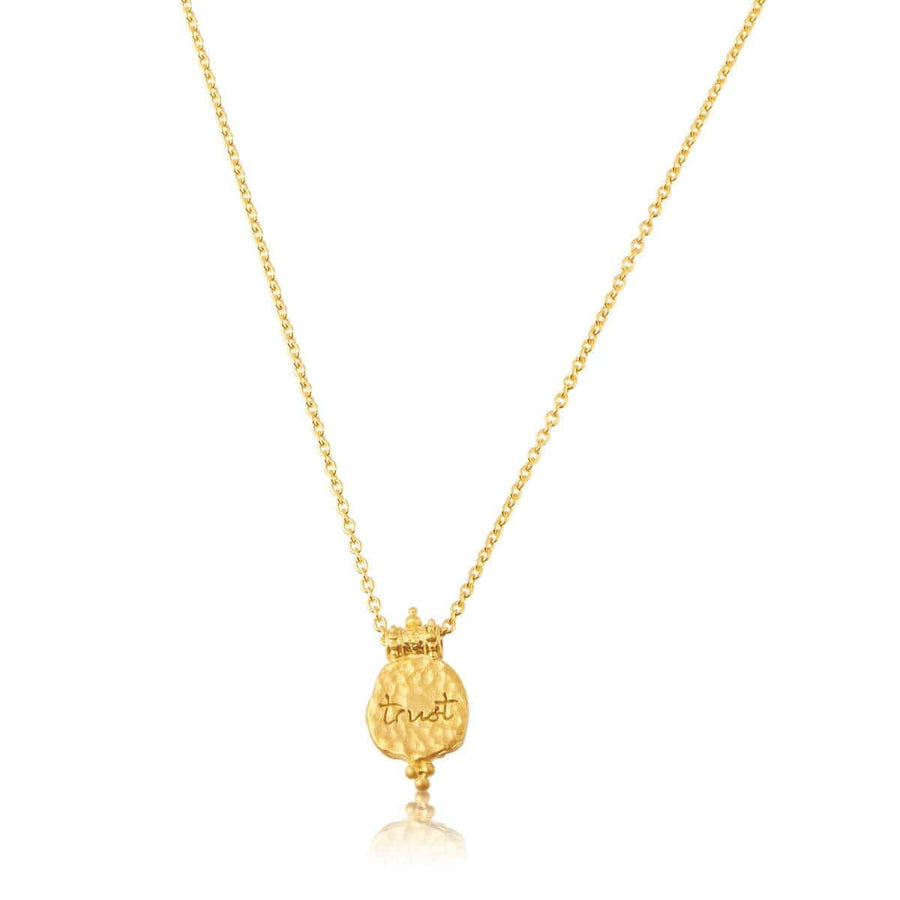 Trust in life necklace - gold
