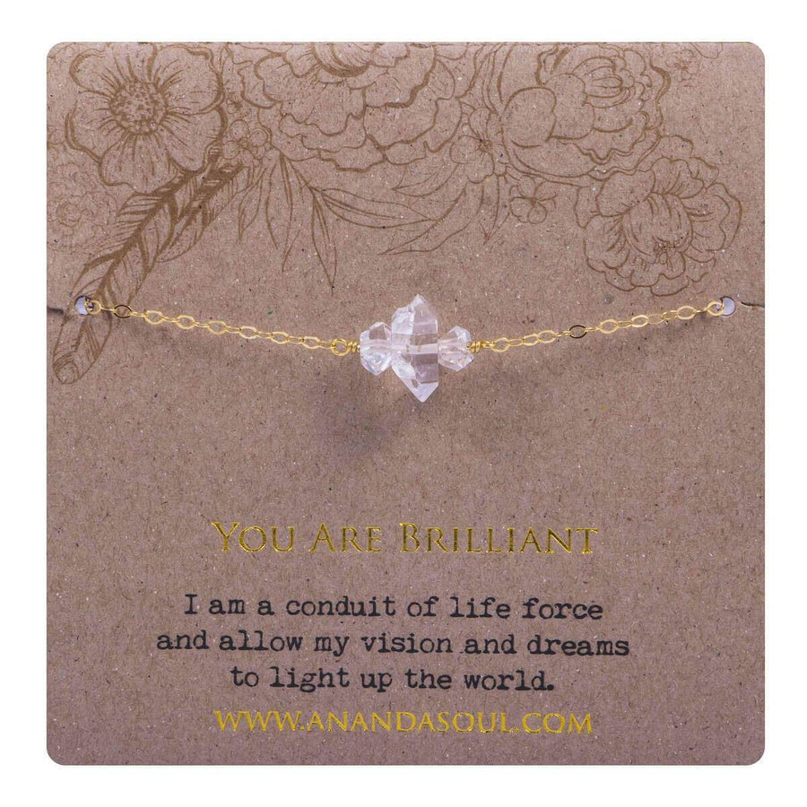 You are brilliant bracelet - gold