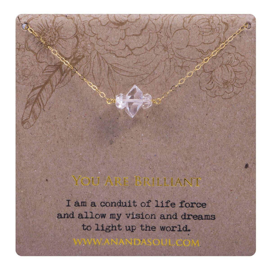 You are brilliant necklace  - gold