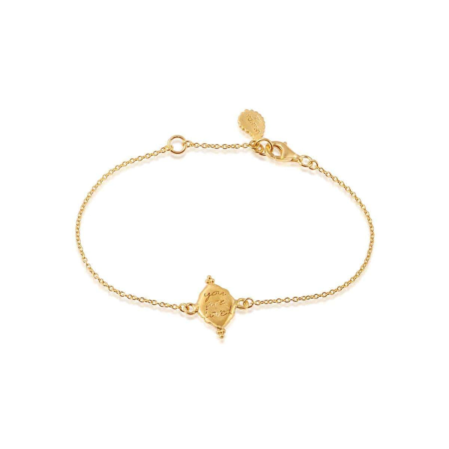 You Are Loved Bracelet - Gold