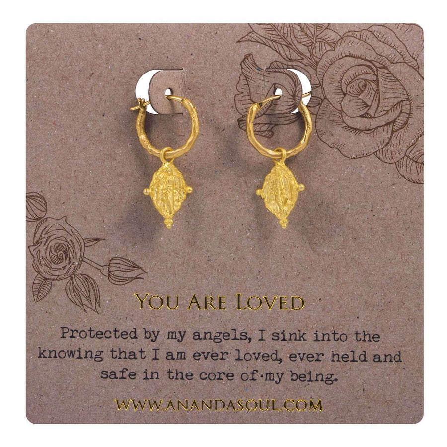You are loved earrings - gold