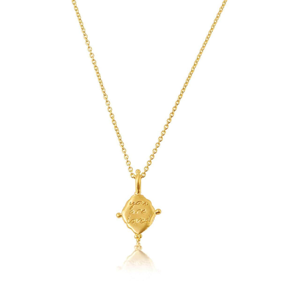 You are loved necklace - gold