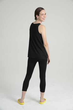 """Silky"" Sleeveless A-line top"