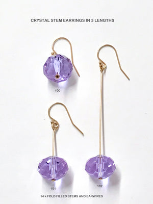 Crystal Stem Earrings