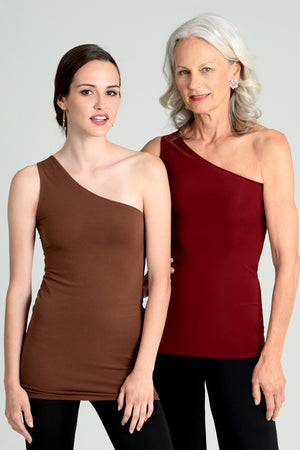 """Silky""  One Shoulder Top"