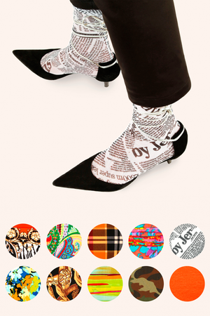 A collection of fun and fashionable legwear from OKOKOSTUDIO.
