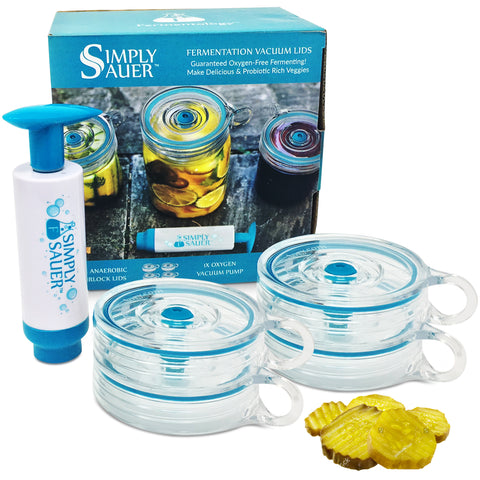 Simply Sauer -  4 Fermentation Airlocks and 1 Vacuum Pump <br> 5 Piece Kit