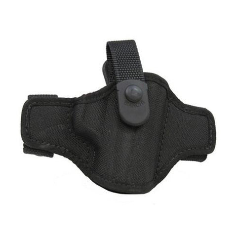 Bianchi - 7506 AccuMold Belt Slide Holster, Thumbsnap - Plain Black, Size 14, Right Hand
