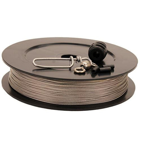 Scotty - Premium Stainless Steel Downrigger Cable - 300 ft, 180 lb Test, Kit