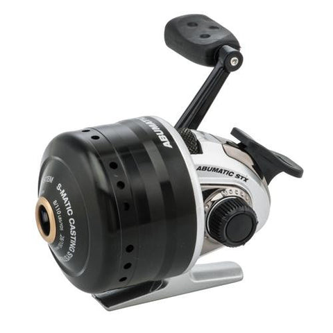 Abu Garcia - Abumatic STX Spincast Reel - 10, 3.6:1 Gear Ratio, 4 Bearings, 8 lb Max Drag, Right Hand, Clam Package