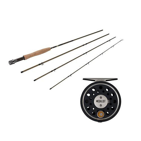 Fenwick - Medalist Fly Kit - 3-4, 8' Length, 4 Piece Rod, Medium-Fast Action, Right Hand
