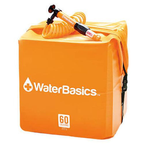 Aquamira - WaterBasics Water Storage Kit - 60 Gallon with Filter