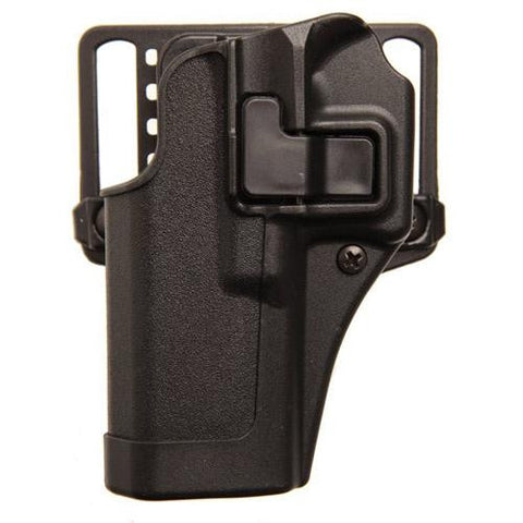 Blackhawk! - Serpa CQC, Belt & Paddle Holster, Plain Matte Black Finish - Glock 43, Right Hand