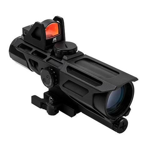 NcStar - GEN3 USS Scope - 3-9X40mm, Mil-DotReticle with Red Dot