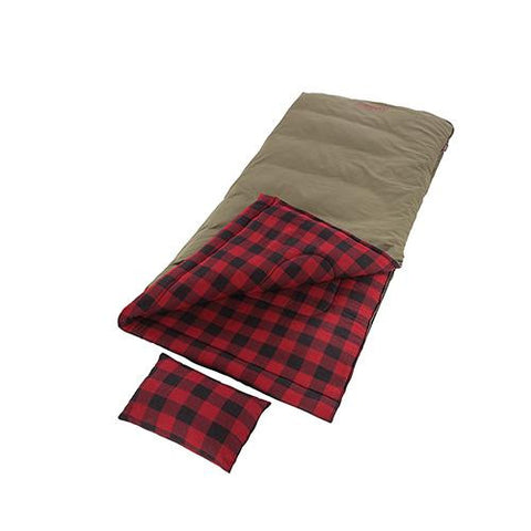 Coleman - Big Game Big and Tall Sleeping Bag, Plaid Red
