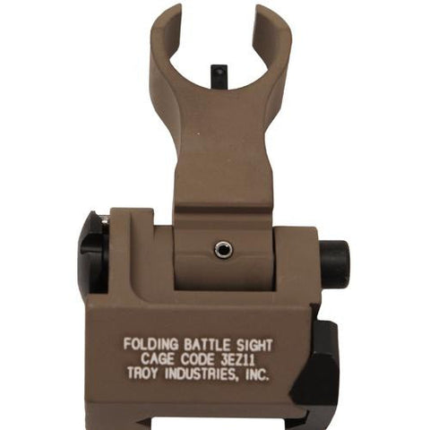 Troy Industries - Front HK Style Sight - Folding, Tritium, Flat Dark Earth